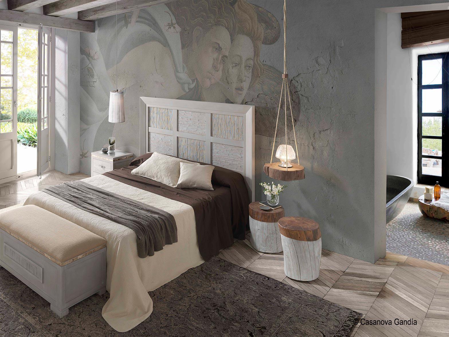 Dormitorio Evolución con mesitas tronco
