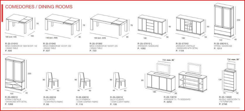 Catálogo técnico, tienda de muebles online, Casanova Gandía.