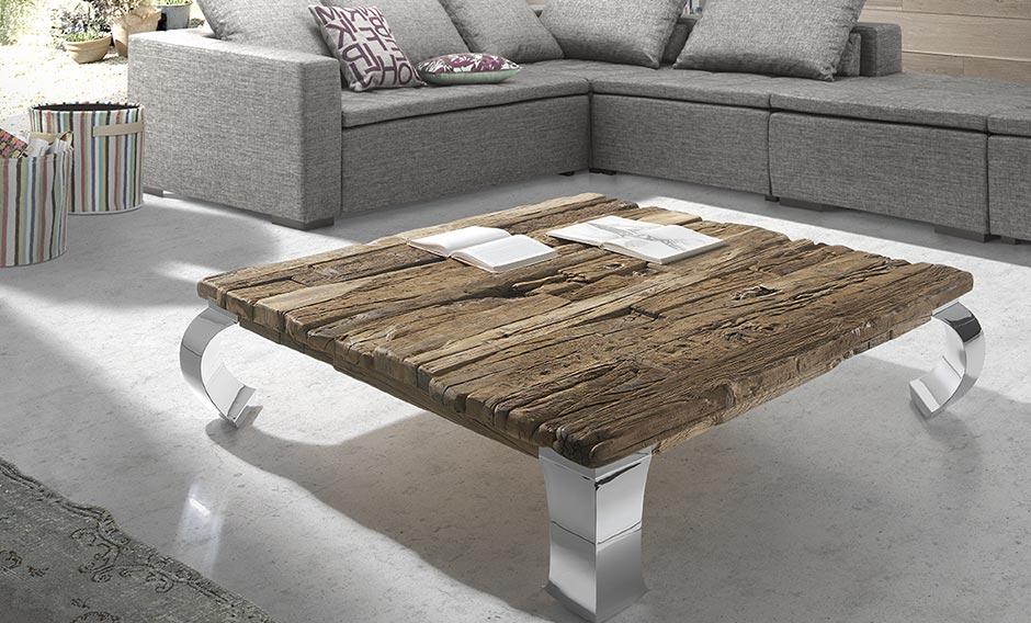 mesa centro reciclada