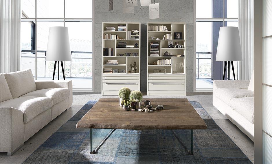 mesa cetro patas cristal madera en bruto